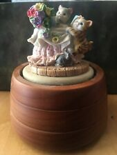 Music Box Company Cat Globe