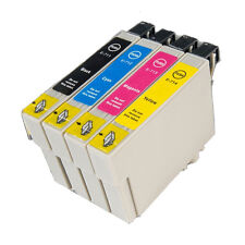 4 T0715 non-OEM Ink Cartridges For Epson T0711-14 Stylus DX6050 DX7000F DX7400