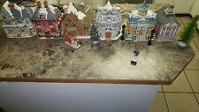 Lefton Christmas Village Lighted Figurines Pristine Condition with box