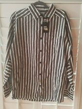 Truth Soul Armor Men's Shirt long Sleeve  Button Front striped NEW size L.