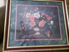 Beautiful Home Interiors, floral Garden picture, by Albert Williams, 27.5 x23.5