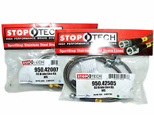 Stoptech Stainless Steel Braided Brake Lines (Front & Rear Set / 42007+42505)