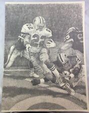 Rare 1995 Orig Art Print Artist Stimmel Emmitt Smith Dallas Cowboys Football