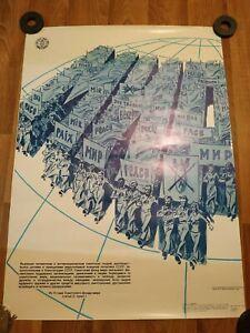 PEACE original vintage poster