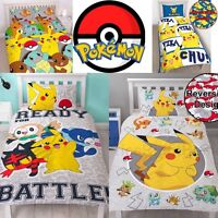 POKEMON DUVET COVER SETS KIDS CHILDRENS BEDDING SINGLE & DOUBLE OFFICIAL NEW