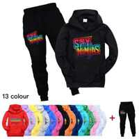 Kids Spy Ninjas Hooded Hoodie+Trousers Pants Youtuber Merch Tracksuit 2PCS Set