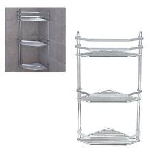 3 Tier Chrome Corner Shower Rack Caddy Bathroom Shelf Organizer Unit Tidy Basket