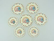 Chilton Toys Pink Blue Bears Plastic Play Dishes Vintage 3 Small 4 Large Plates