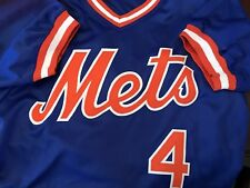LEN DYKSTRA SIGNED NEW YORK METS JERSEY W/ PSA-DNA COA - Size XL
