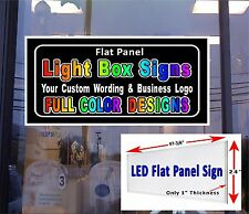 "24"" x 48"" LED Flat Panel Light box Sign - Your Custom Wording - Business Signs"