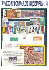 COMPLETE 1979 MEXICO Collection Commemorative Year MNH (35 Stamps+ 5 SS)
