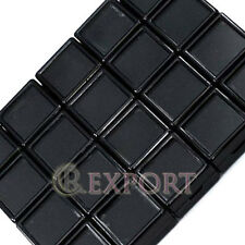 20 Gem Tool Storage Cases Glass Top Gemstone Display Jewelry Black Box 3x3x1.5cm