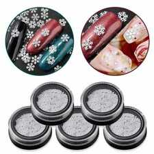 3 Styles Christmas Snowflake White Slice Design Decoration Sequins Nail Art