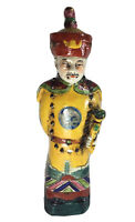"""CHINESE ANTIQUE PORCELAIN FIGURINE QING DYNASTY EMPEROR STATUE 11"""" Chipped"""