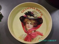 VINTAGE OLYMPIA BEER TRAY TIN VICTORIAN WOMAN 1972 BREWING COMPANY