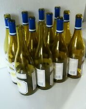 12 EMPTY WINE BOTTLES BURGUNDY STYLE AMBER COLOR FOR CORK USE