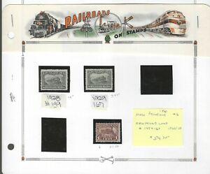 RAILROADS (D)...New Brunswick #6 & Newfoundland #149 & 167...Mint H...SCV $54.75
