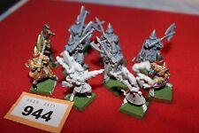 Juegos taller Warhammer elfos alto Regimiento De Metal Blanco Leones Trabajo Lote ejército fuera de imprenta