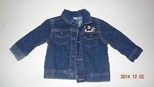 Mickey Mouse Jean Denim Jacket Girl size 6-9 months. Blue