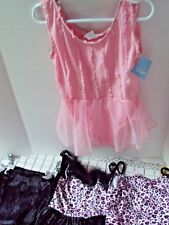 Dancewear Lof of 4 Dance Outfits Girls Size Medium Leotards And Tops Good Cond