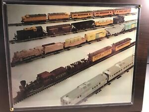 """🚅   LIONEL TRAINS PICTURE *WOOD WITH PLASTIC COVER * 13""""X11""""X1"""" 👍 B278"""
