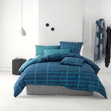 Deco Linen House Vasco Teal King Bed Size Duvet Doona Quilt Cover Set Rrp159.95