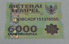 meterai tempel 6000 indonesia stamp duty