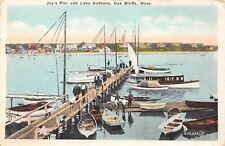 Oak Bluffs Massachusetts~Joy's Pier~Lake Anthony~Men on Dock~Boys~Dog~1922