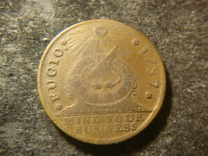 1787 XF Fugio Copper Penny Cent New Haven Restrike  FBZ
