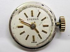 Antique Lds  Eterna  Watch Movement 15 mm,  # 5133352 # 1417. *