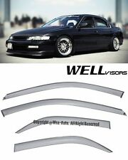 For 94-97 Accord Side Smoked Window Visors Rain Guard WellVisors