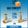 Piles 23A A23 27A A27 ALCALINE 12V TOUT USAGE EXP 2021