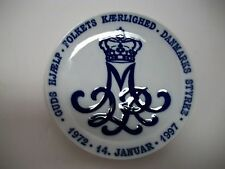 "Royal Copenhagen Plate 1997 Queen Margrethe 7""Dia Rc#463 / See Details"