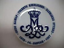 "ROYAL COPENHAGEN PLATE 1997 QUEEN MARGRETHE 25TH YEAR AS QUEEN  7""DIA  RC#463"