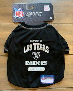 Las Vegas Raiders Dog Shirt - SMALL - Property of Official NFL - Black - NWT