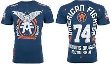 American Fighter Mens S/S T-Shirt TAKE FLIGHT Eagle NAVY BLUE Biker S-3XL $40