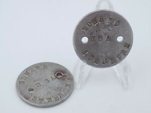 Original WWI US Army Dog Tag Set - Edward Stubbins USA