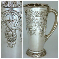 Sterling Silver Art Nouveau Pitcher Aesthetic Birds Black Starr & Frost