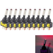 10Pcs 20A 12V Car Red Auto LED Light Mini Toggle Rocker Switch 3Pin SPST ON/OFF