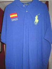 Ralph Lauren Polo shirt 3xb 3xl 3x Big  NWT Spainish Flag Big Pony New Spain