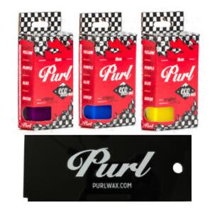 Purl Ski & Snowboard 3 Pack Waxing Kit - All Season: Warm, All-temp, Cold