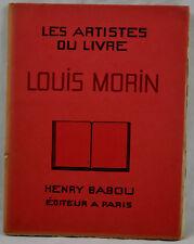 ARTISTES DU LIVRE MORIN 1930 éd. HENRY BABOU complet des 22 planches