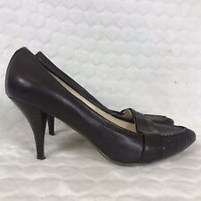 Nine West Shoes Uk 5.5 Us 7.5 Brown Courts Pointy Pointed Stiletto Heels Career