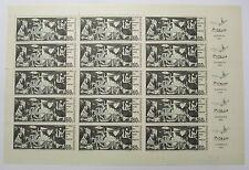 CZECHOSLOVAKIA SCOTT 1408 PICASSO GUERNICA FULL SHEET MNH CAT $75 1966