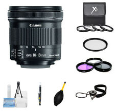 Canon EF-S 10-18mm f/4.5-5.6 IS STM Lens PRO BUNDLE - Top Rated - BRAND NEW!!!