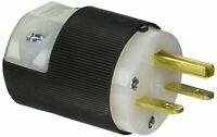 Hubbell Plug, HBL5666C, 5666C, 15A/250V, 2P, 3W, NIB