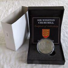 Jersey 2015 Sir Winston Churchill £ 5 prueba corona con tinta de oro-en Caja/cert. de autenticidad