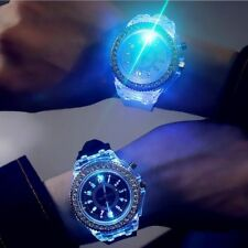 Reloj De Pulsera Unisex Sport Reloj De Luz LED Trasera Cristal De Silicio Goma Pulsera