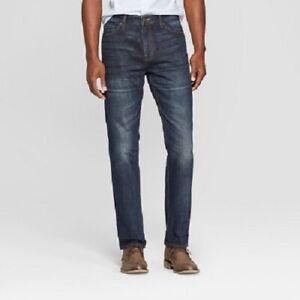 Goodfellow & Co. Men's Size 33 x 30 Straight Leg Fit Dark Wash Denim Jeans