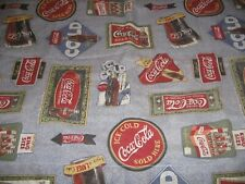 Vintage Coca Cola  Pillow Shams  { 2 } Made in the USA COKE BEDDING Two
